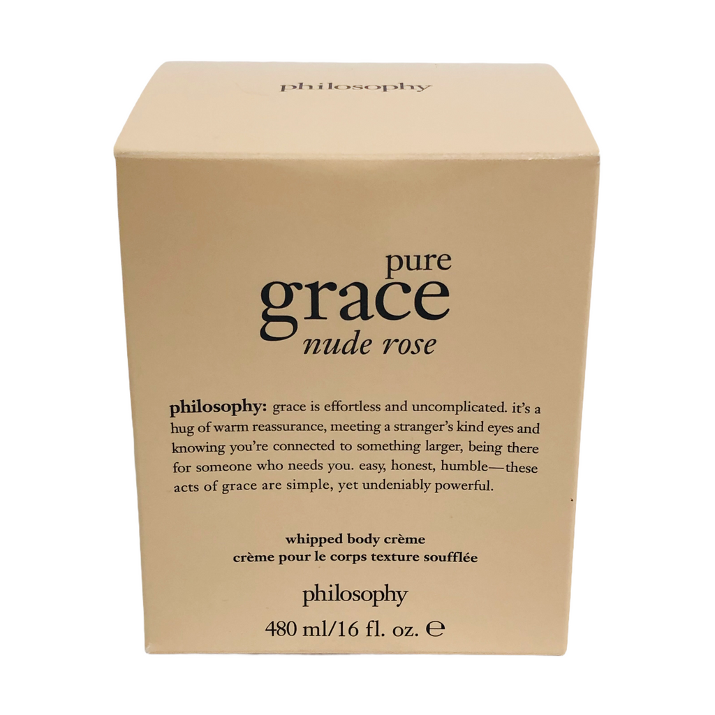 Philosophy Pure Grace Nude Rose 16 Fl. Oz. Whipped Body Creme Jar
