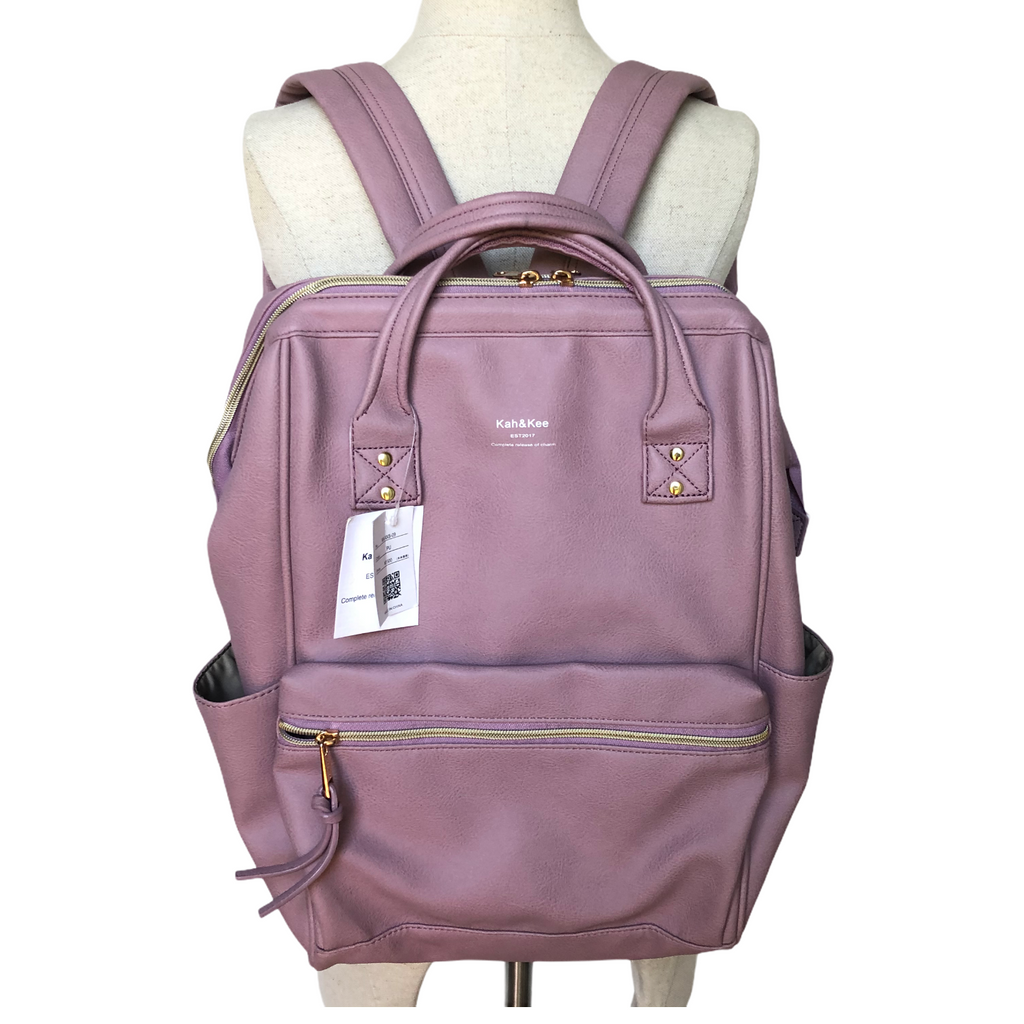 Kah & Kee Lavender Purple Backpack Diaper Bag