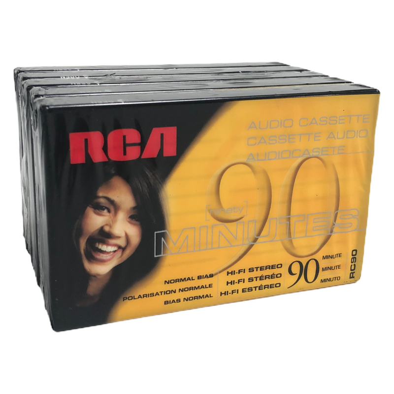 RCA 90 Minutes Blank Audio Cassette Tape RC90 - 5 Pack