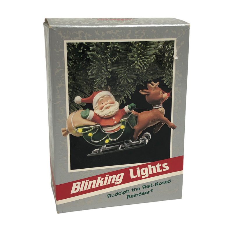 Hallmark Blinking Lights Rudolph The Red-Nosed Reindeer Ornament