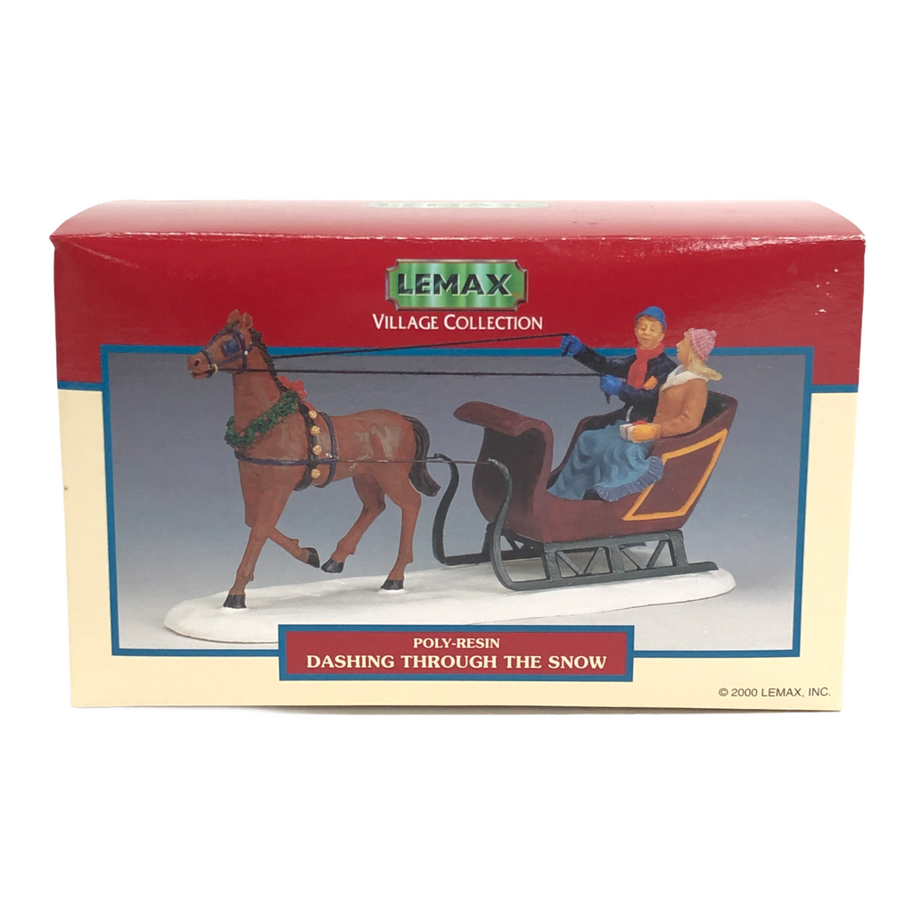Lemax Village Collection Dashing Through The Snow Poly-Resin Figurine