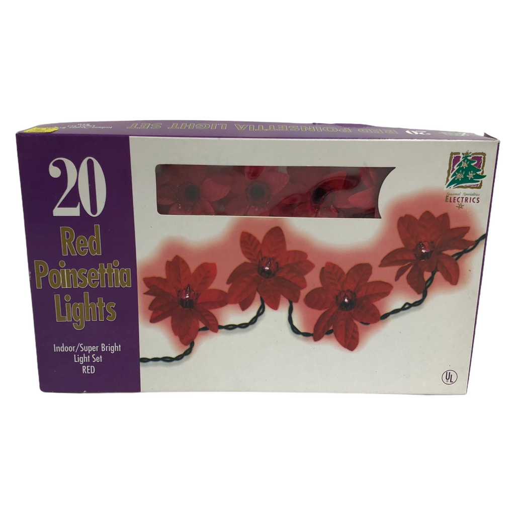 Seasonal Specialties Electrics 20 Red Poinsettia String Light Set