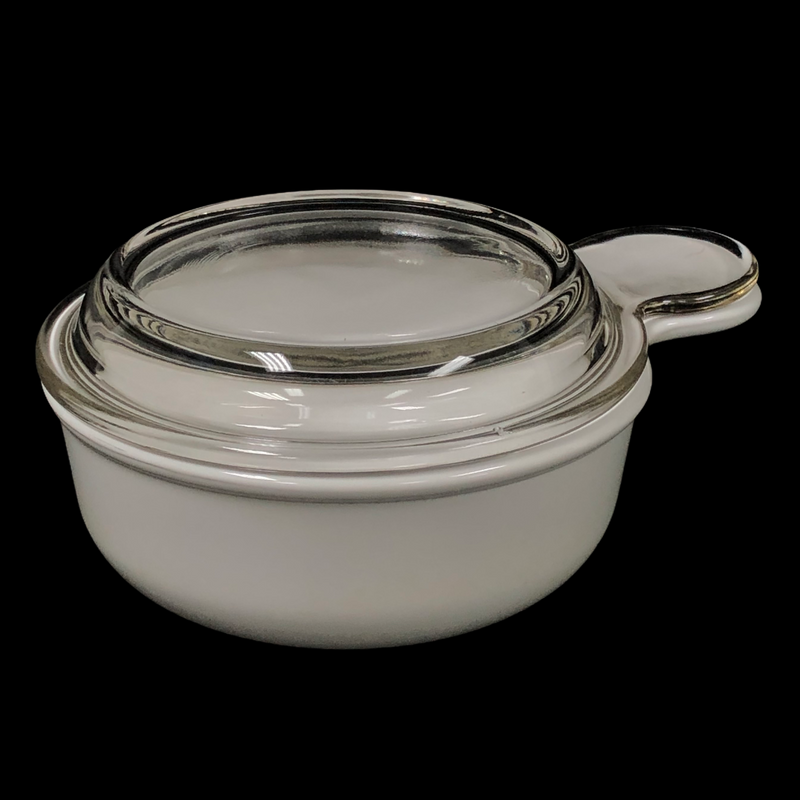 Corning Ware Grab It White 15 Oz Bowl P-150-B  w/ Glass Lid
