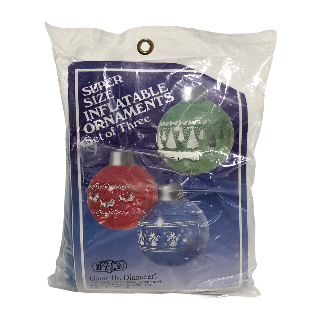 Emson Super Size 1 Ft. Blue Red Green Inflatable Ornaments - 3 Pack