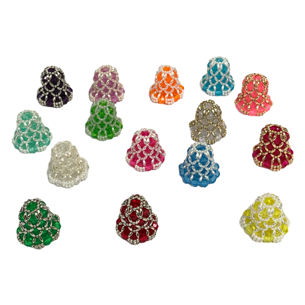 (15) Rubber Elastic Flower Christmas Light Covers - Random Colors