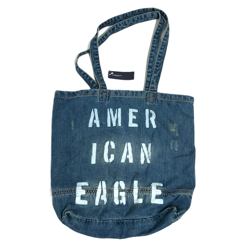 American Eagle Denim Jean Tote Storage Bag