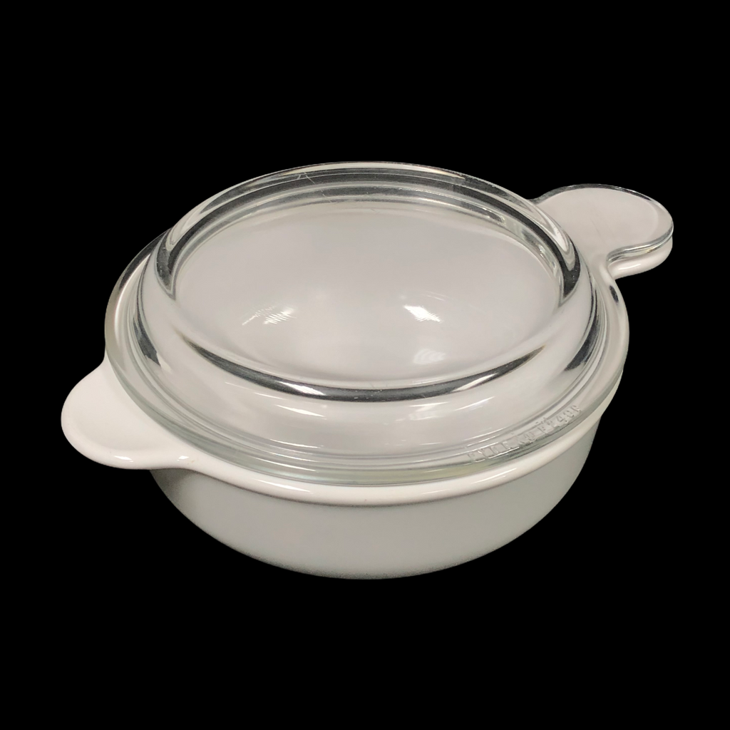 Corning Ware Grab It White 25 Oz. Casserole Dish Bowl P-240-B w/ Glass Lid