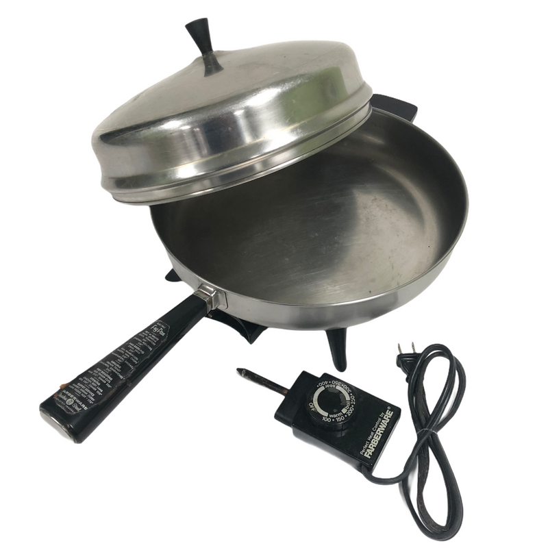"Farberware Perfect Heat Control Stainless Steel Electric 12"" Fry Pan 101"