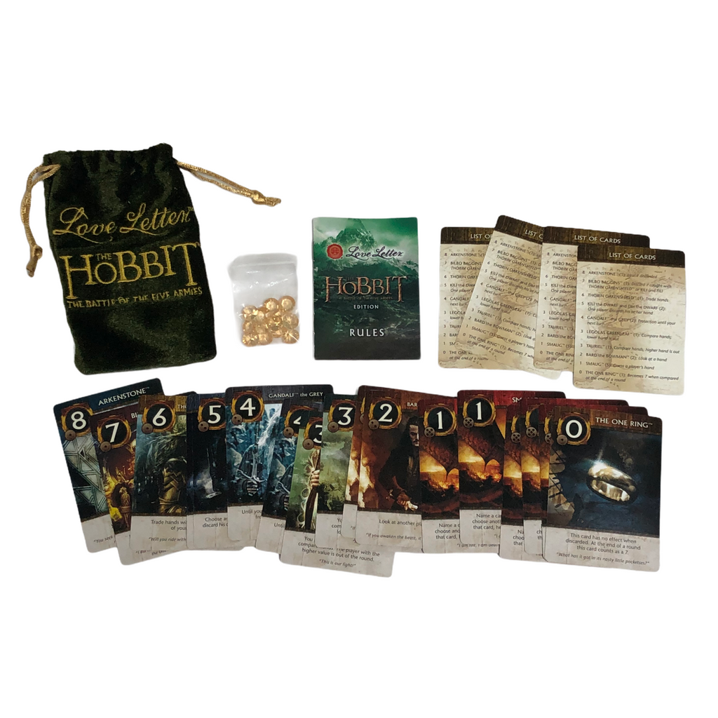 The Hobbit Love Letter The Battle Of The Five Armies Bag Edition Card Game