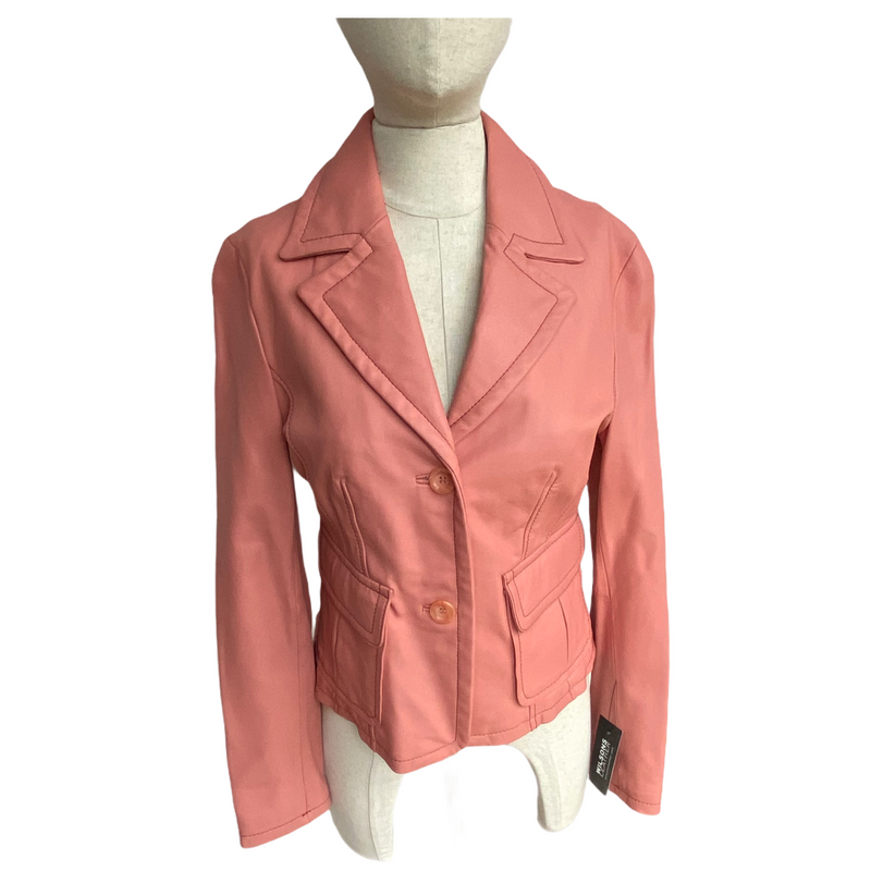 Wilsons Leather Womens 2 Button Contemporary Blazer