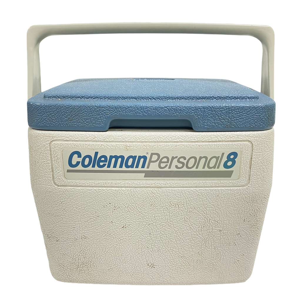 Coleman Personal 8 White Light Blue Lunch Box Ice Chest Insulated Cooler 5272