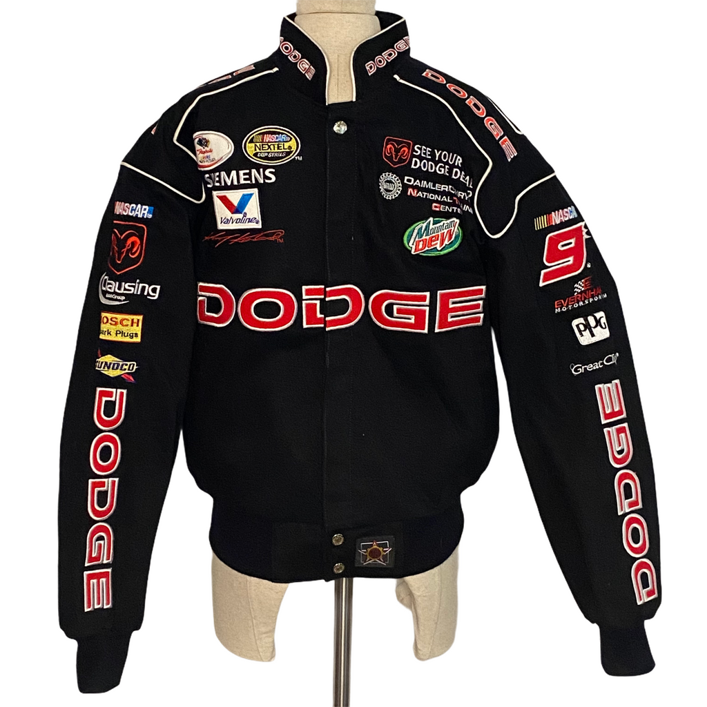 JH Design Mens Kasey Kahne #9 Button Up Dodge Jacket