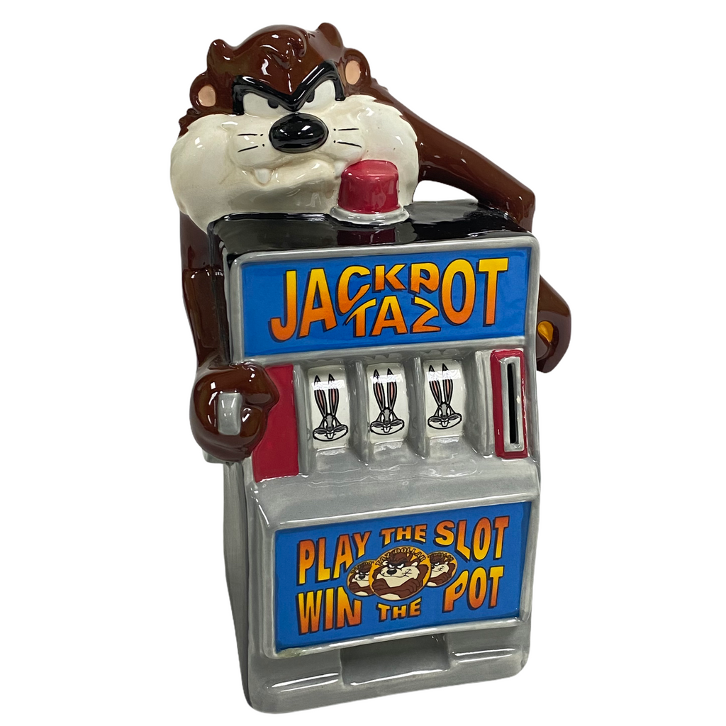 Warner Brothers Bros Jackpot Taz Tasmanian Devil Ceramic Slot Machine Bank