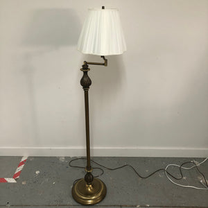 "54"" Brass Base Extandable Rotating Light Floor Lamp"