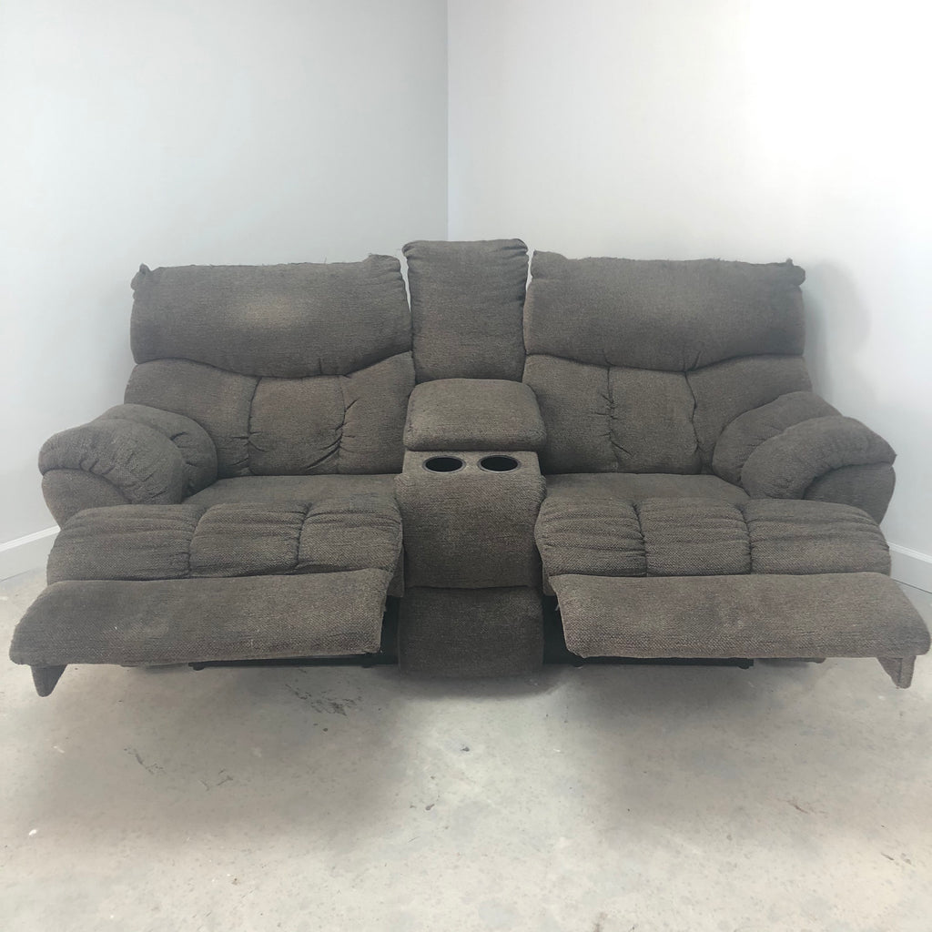 Southern Motion Double Recliner Grey Reclining 2 Seat Sofa Couch