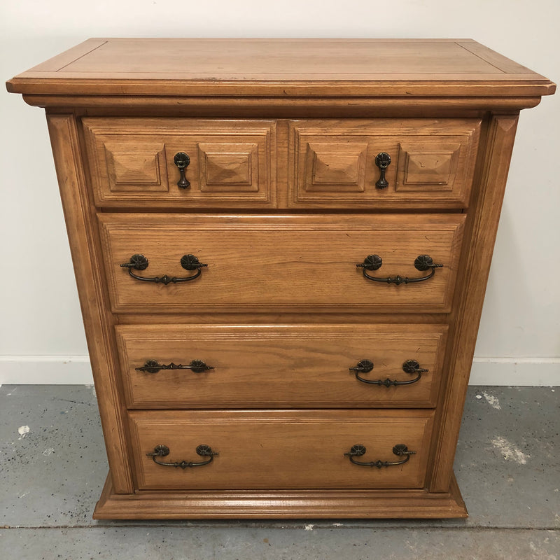 Williams Furniture Light Oak 4 Drawer Tall Dresser Chest