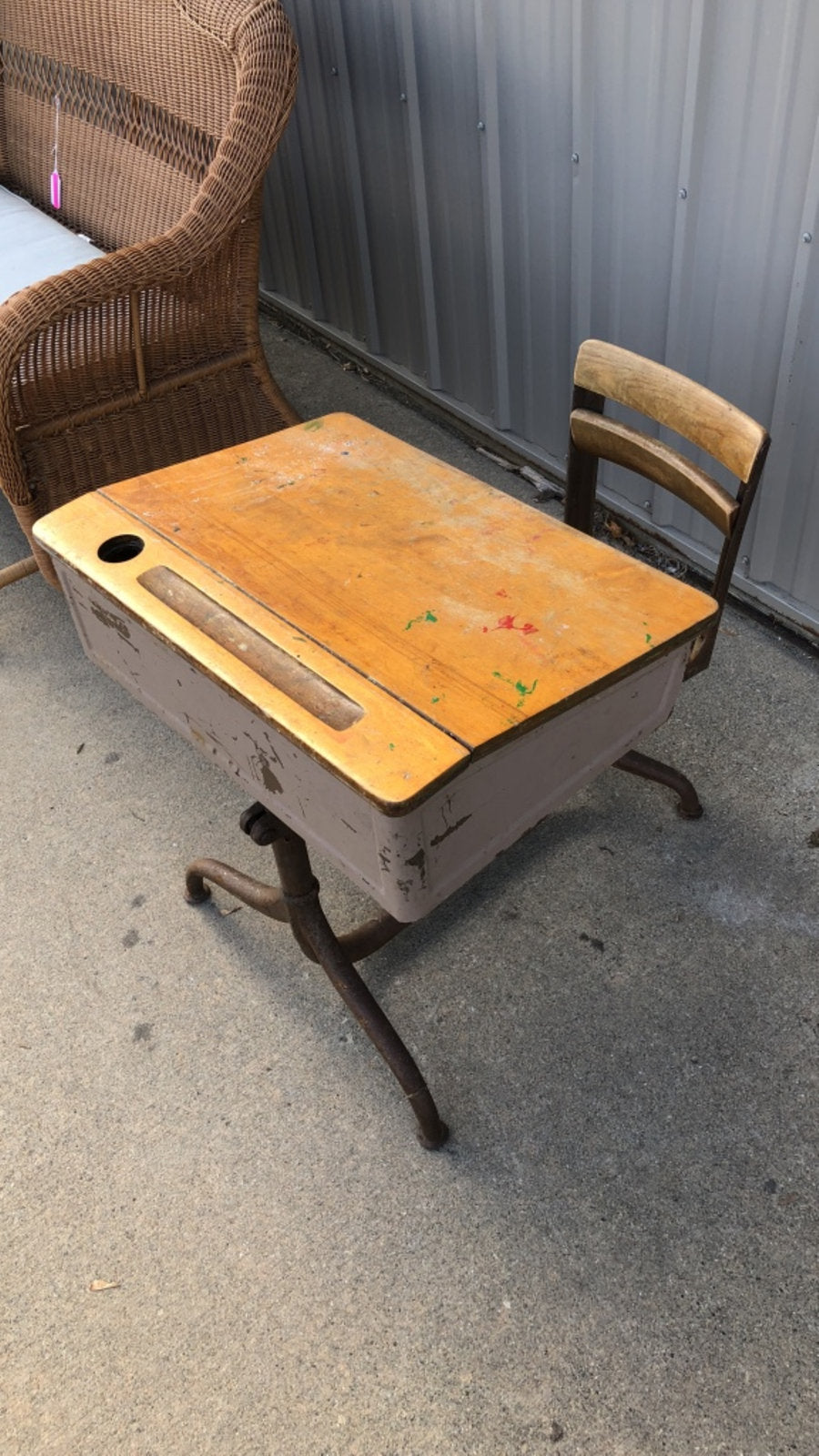 Old Vintage Child's School Desk