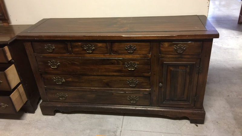 Pine Multi-Drawer Long Dresser