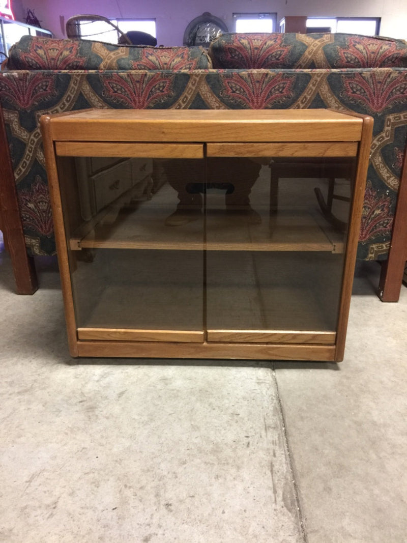 Wooden Framed Glass Cabinet / TV Stand