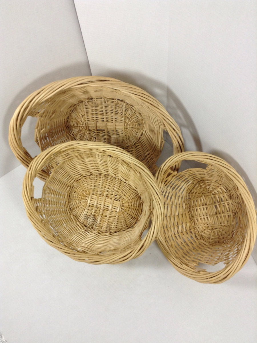 3 Wicker Baskets Set