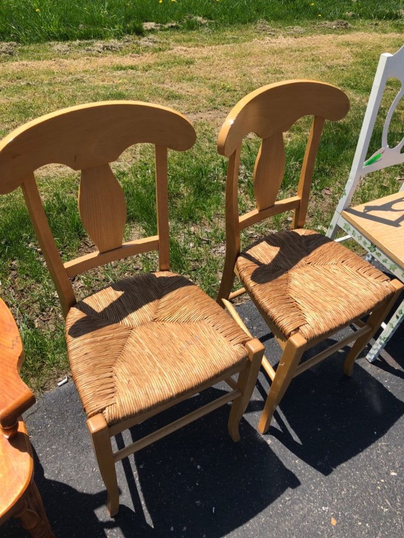 Wicker Seat Chairs