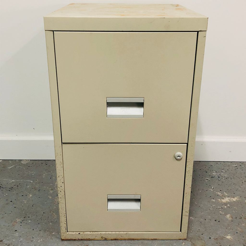 "25.5"" Metal 2 Door Filing Cabinet"