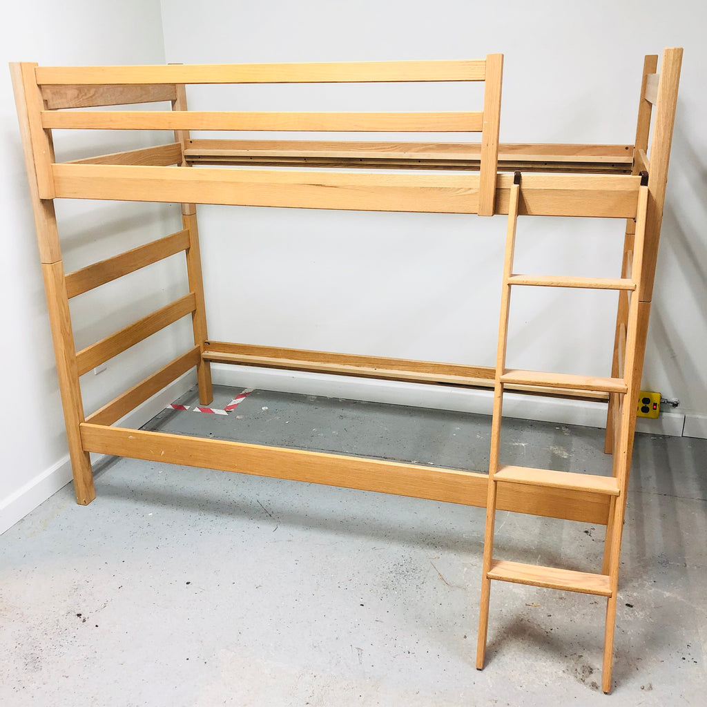 Workbench Collection Light Oak Twin Bunk Bed