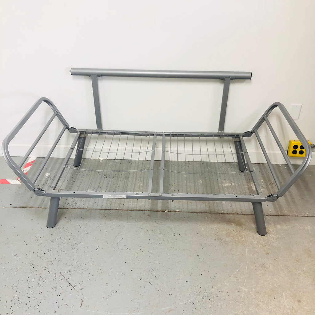 "Aluminum Metal Adjustable Sides Futon 36"" Bed Frame"