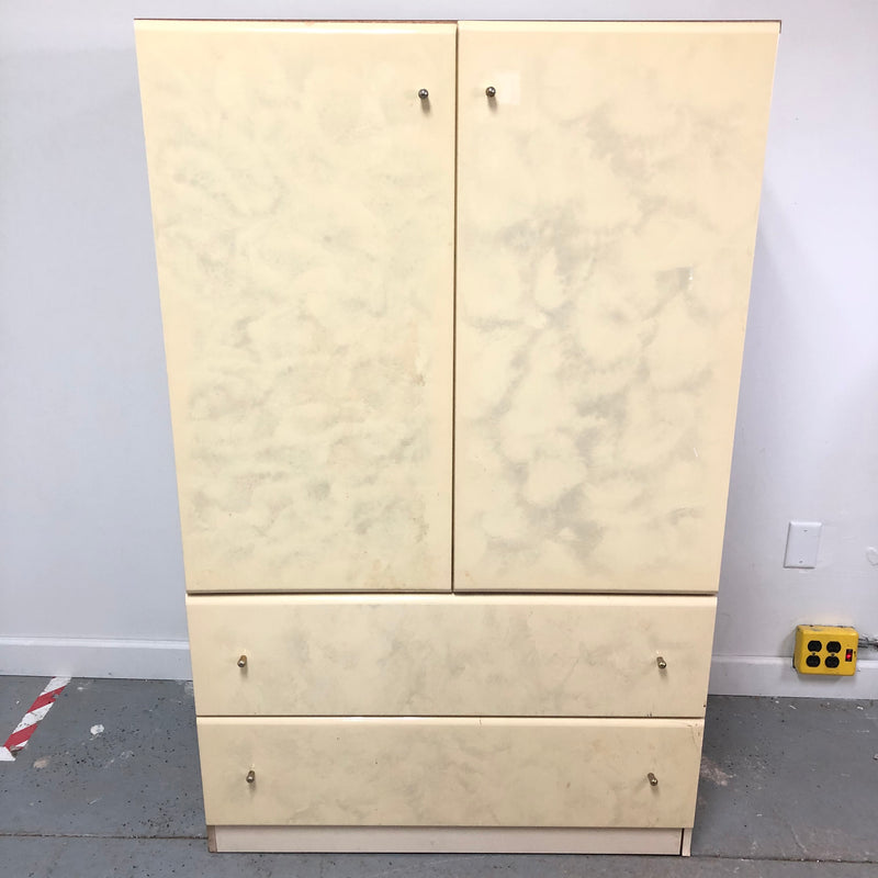 Millenium Replicated Wood Gold Pearl Armoire
