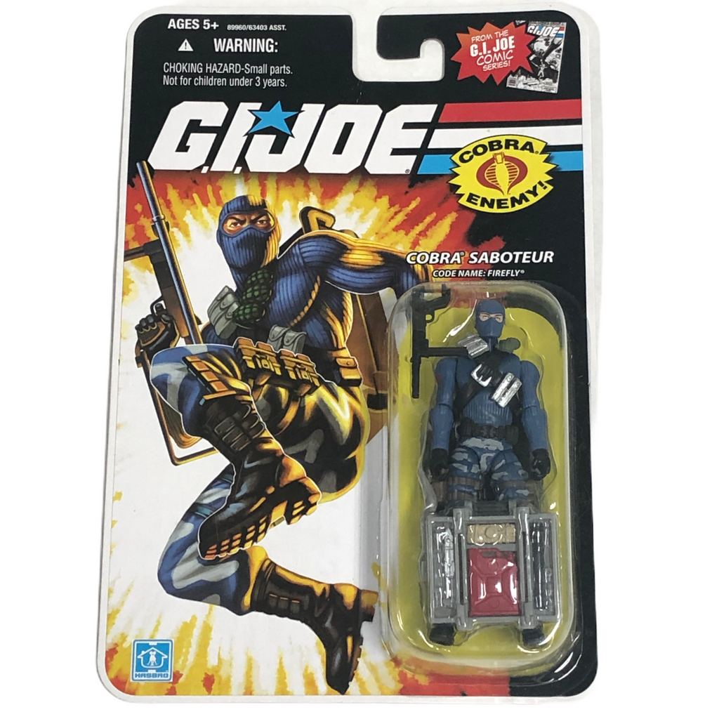 G.I. Joe Hasbro Cobra Saboteur Firefly Blue Suit Action Figure