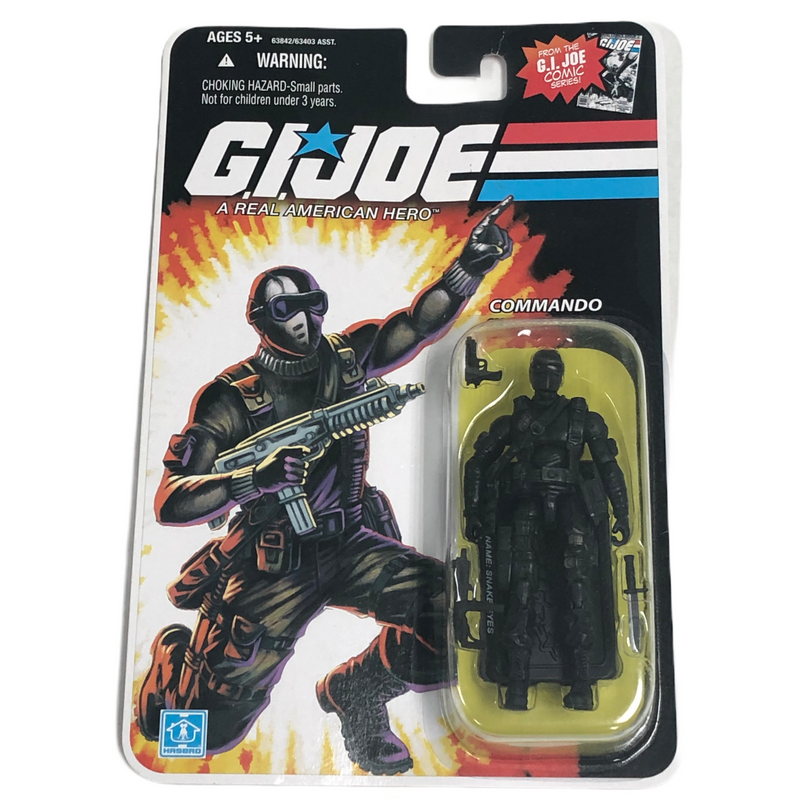 G.I. Joe Hasbro Commando Snake Eyes First Version Action Figure