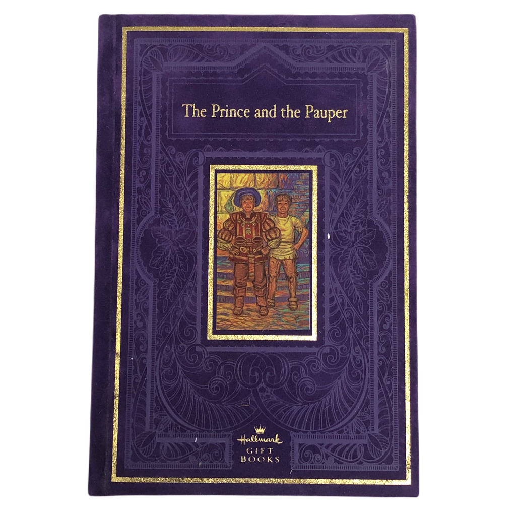 The Prince And The Pauper Hallmark Gift Books Purple Velvet Hardcover Book