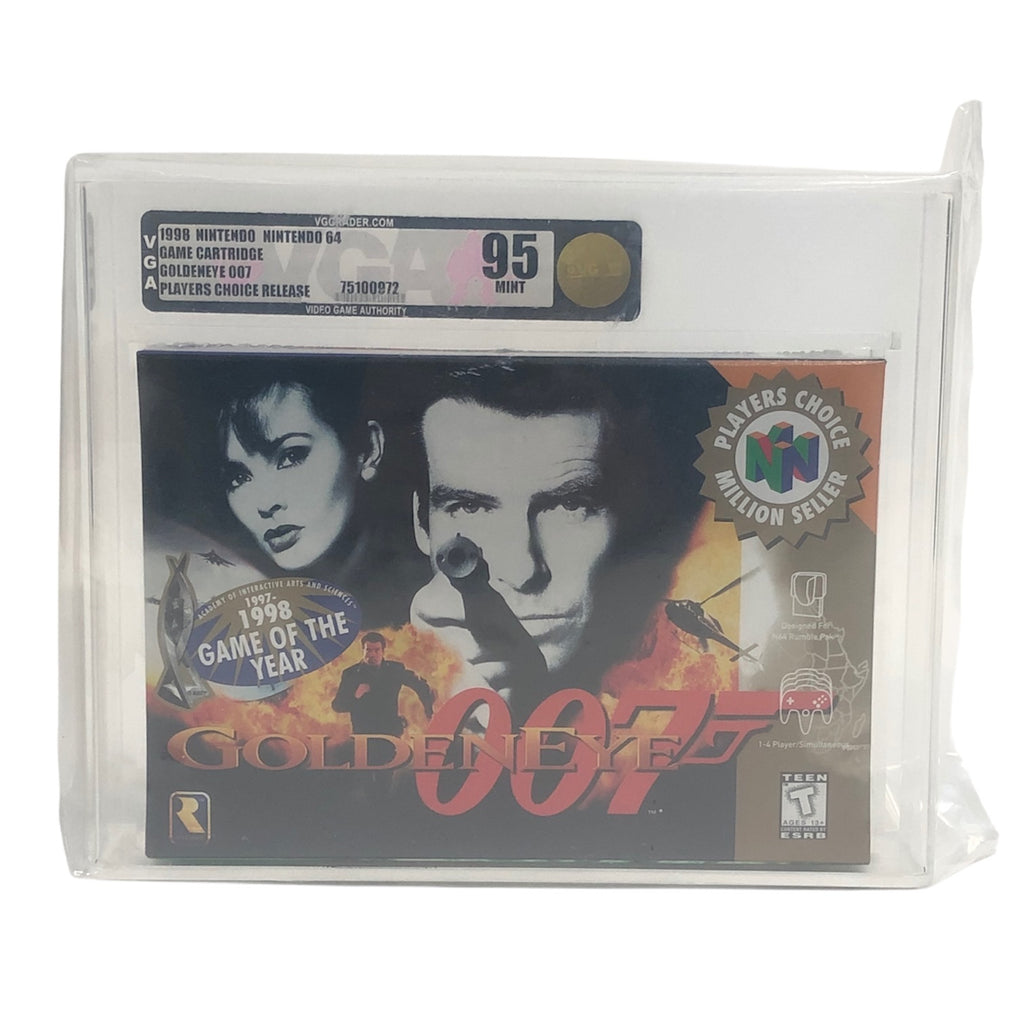 Goldeneye 007 Players Choice Nintendo 64 N64 New Sealed Graded VGA 95 Gold MINT