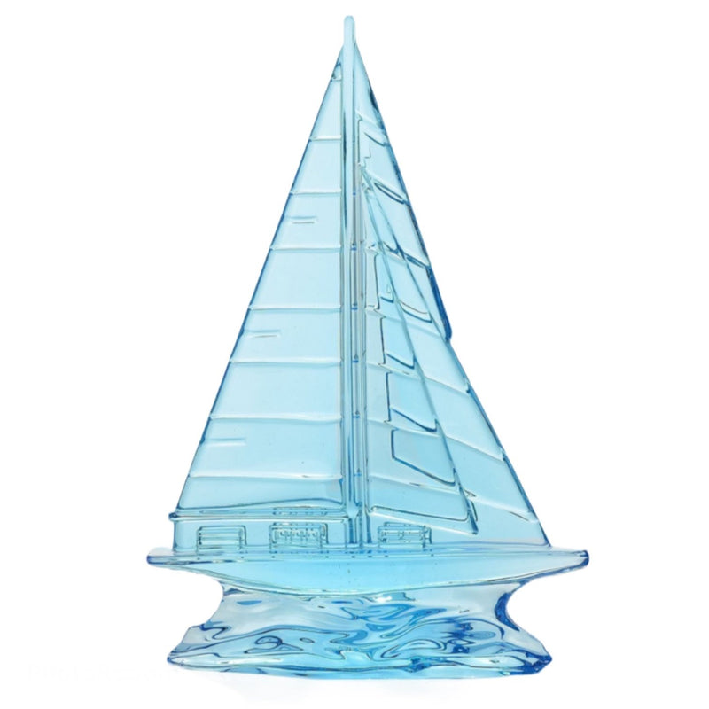 Waterford Crystal Glass Sailboat Sculpture