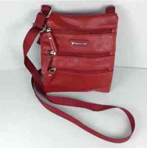 "Stone & Co Red 8x7"" Shoulder Bag Purse"