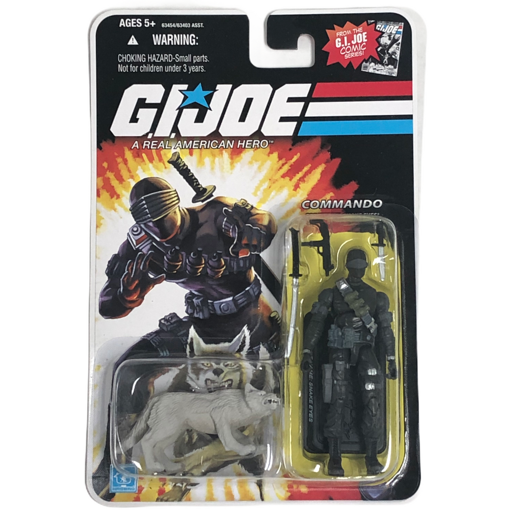 G.I. Joe Hasbro Commando Snake Eyes + Timber Wolf Action Figures