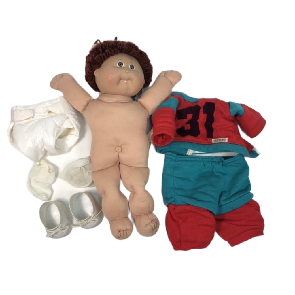 Cabbage Patch Kids CPK Dark Hair & Eyes One Tooth Boy 31 Outfit