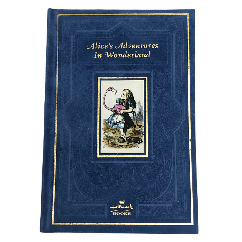 Alices Adventures In Wonderland Hallmark Books Blue Velvet Hardcover Book