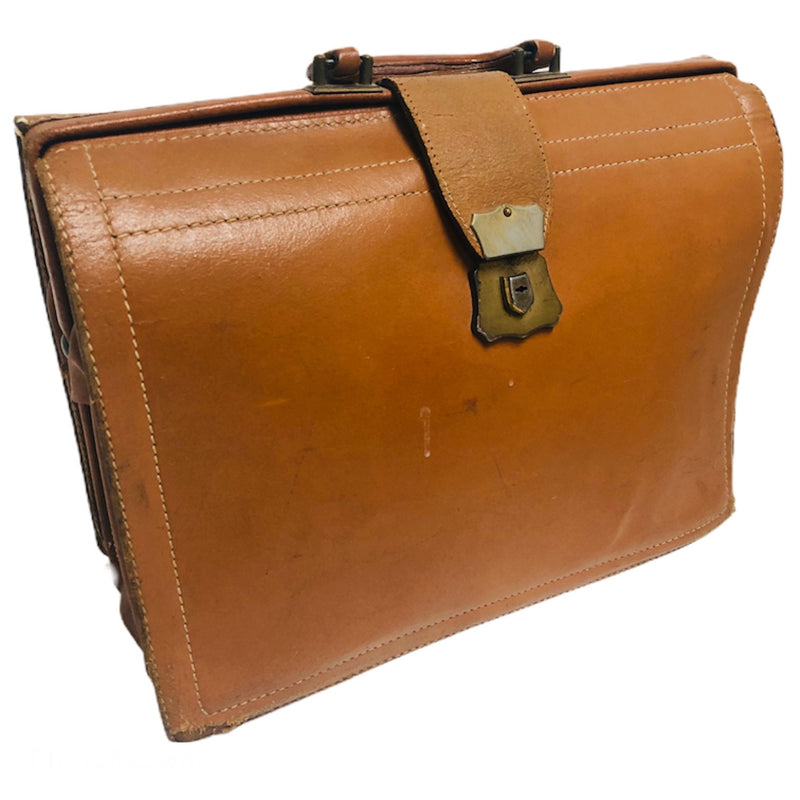 Leathercraft Brown Split Cowhide Leather Briefcase