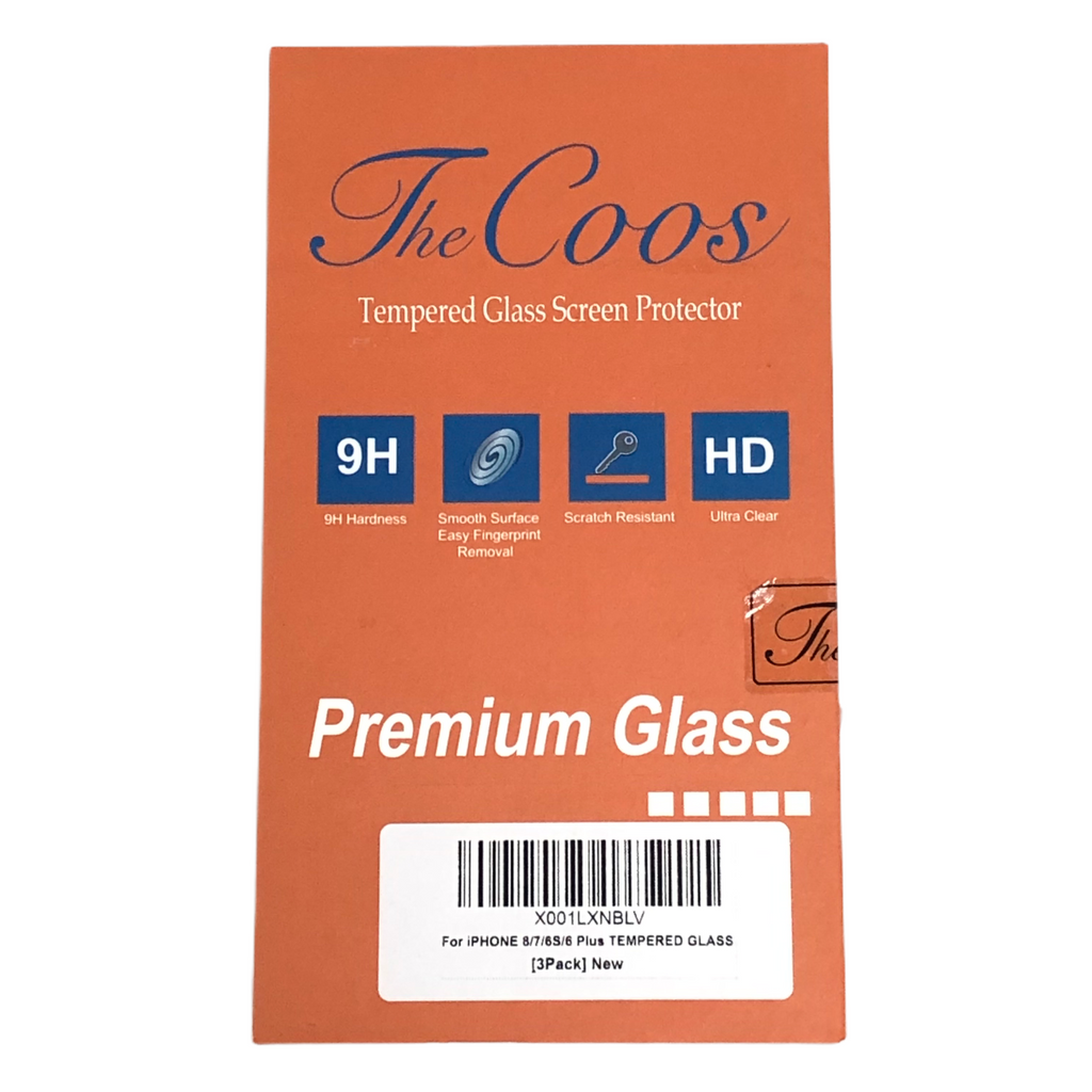 TheCoos Iphone 8/7/6S/6 Plus Tempered Premium Glass Screen Protector 3 Pack