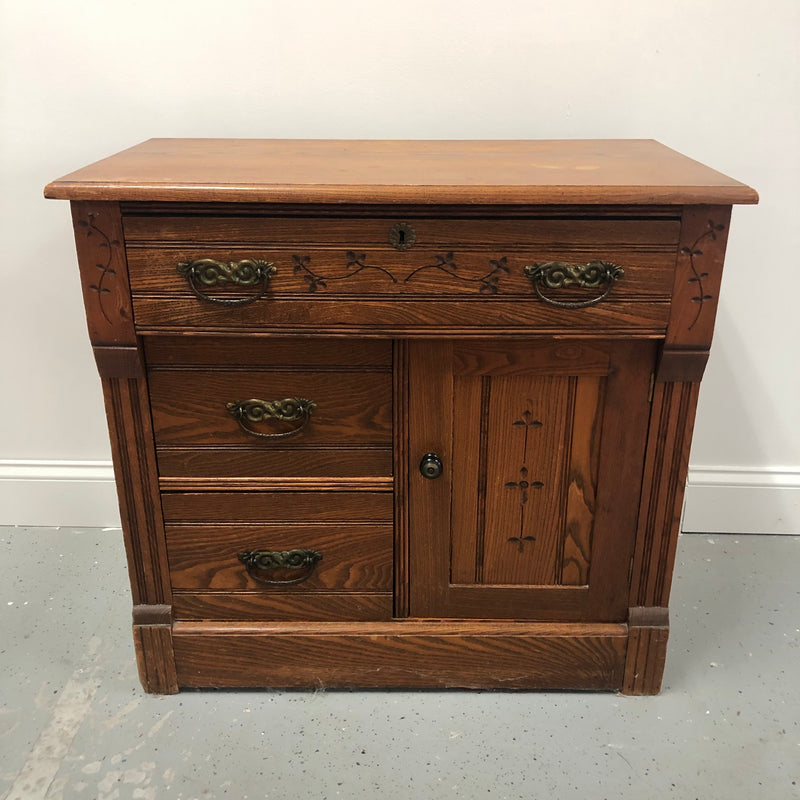 1800s Oak Solid Wood Nightstand