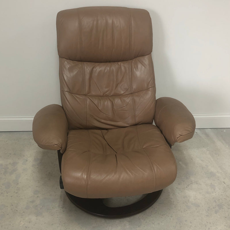 Lane Furniture Low Profile Leather Reclining Swivel Chair