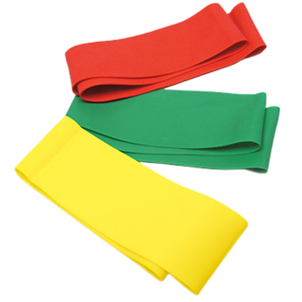 (3) Beachbody Strength Exercise Workout Red Yellow Green Fitness Resistance Bands