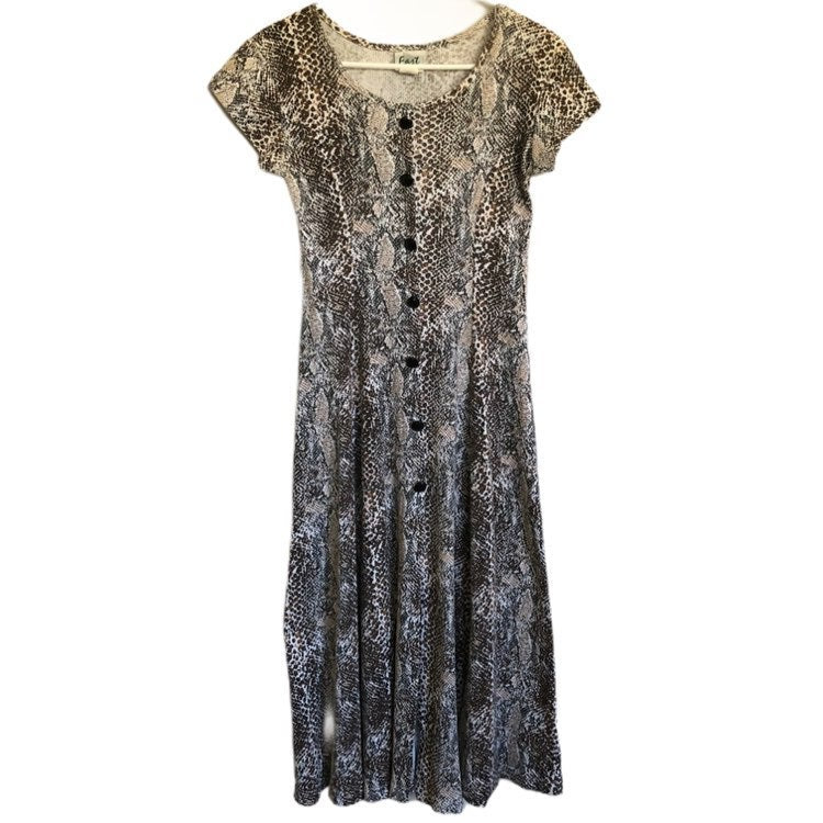 Fast Womens Cheetah Print Pullover Dress