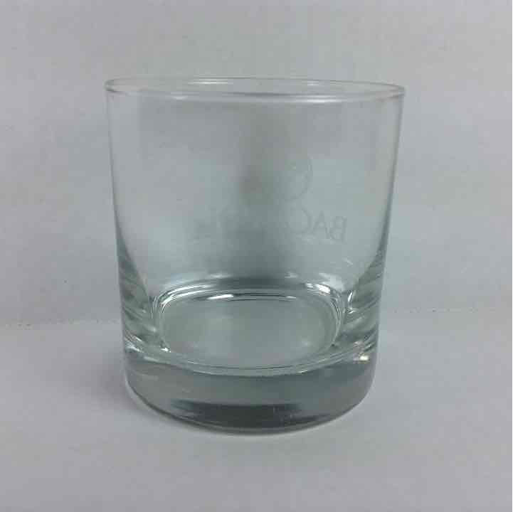 "Bacardi Rum Bat Logo Short Glass 3.5"" Cup"