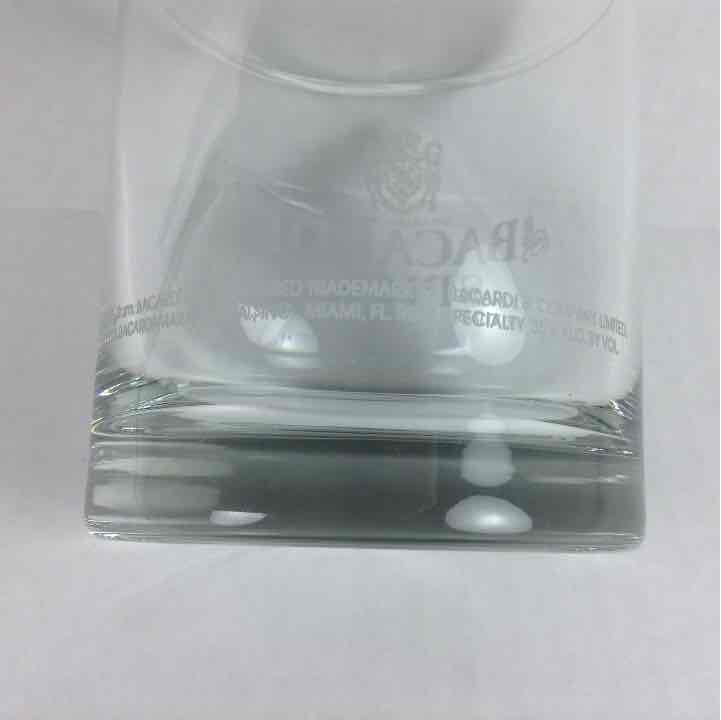 "Bacardi Spice Rum Bat Logo Short Glass 3.5"" Cup"