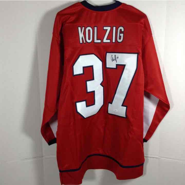 Olaf Kolzig Autographed Washington Capitols Jersey JSA Authentic COA