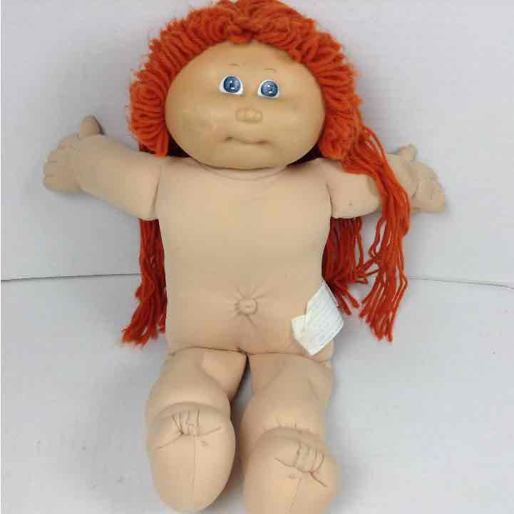 "Cabbage Patch Kids CPK 1978 1982 Girl 16"" Doll Red Hair Blue Eyes No Clothes"