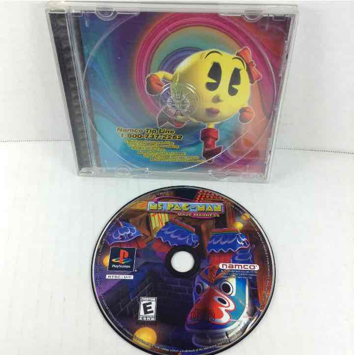 Ms. Pac-Man Maze Madness Sony Playstation 1 PS1