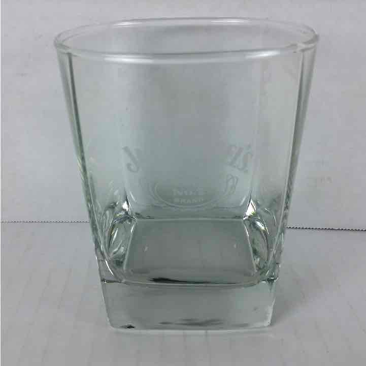 New Jack Daniels Old No. 7 Brand Whisky Lowball Rocks Etched Glass Cup Barware Cocktail